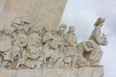 Pohled na památník objevy v lisabon, portugalsko — Stock fotografie