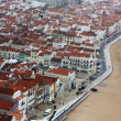 View of the coastal town Nazaré, Portugal — Stock Photo
