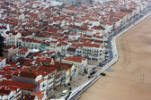 View of the coastal town Nazaré, Portugal — Foto Stock
