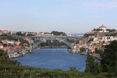 View of the historical part of Porto and the Douro river. Portugal — Stock Photo