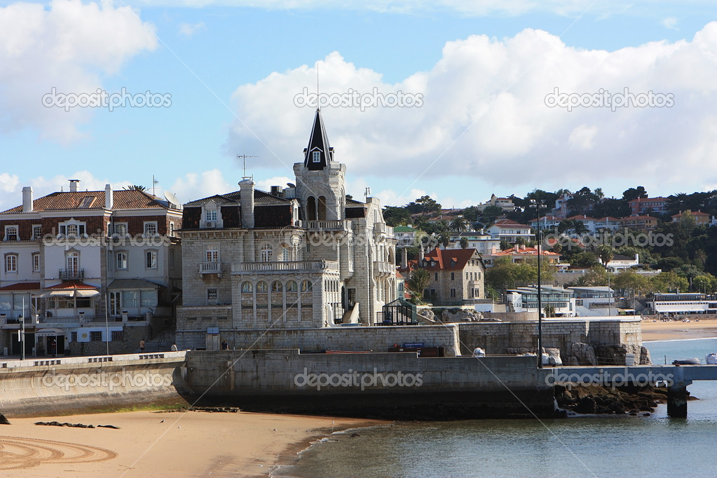 View of the coastal town Cascais, Portugal — Stock Photo #10890965