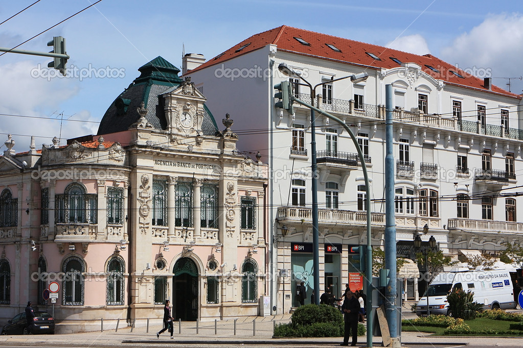 View of the  old houses in the town Coimbra. Portugal — Stock Photo #10891058