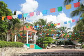 Een centrale straat in cancun, mexco — Stockfoto