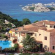 Stock Photo: Private house with open-air swimming pool at Mediterrane, Sardinia