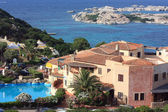 Private house with open-air swimming pool at Mediterranean , Sardinia — Stock Photo