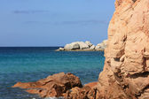 Coastal rock at the Mediterranean, Sardinia — Stock Photo