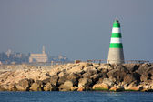 The lighthouse at the coast Tel-Aviv, Israel — Stock Photo