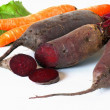 Stock Photo: Beet and carrot