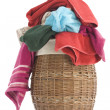 Laundry Basket and towels — Foto de Stock