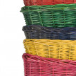 Woven straw baskets — Foto Stock