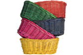 Woven straw baskets — Stock Photo