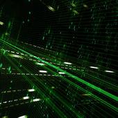 抽象绿色矩阵背景 — 图库照片