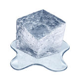 Melting ice cube — Stock Photo