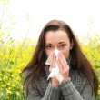 Young womhas hay fever — Stock Photo #10861772