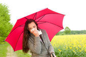 Young woman has hay fever — Stock Photo