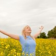 Young woman cheering — Stock Photo #11161897