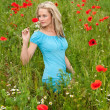 Stockfoto: Pretty young blond woman