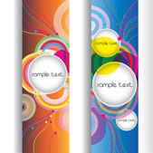 Abstract modern banner. set vector design — Stock Vector