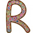"Beautiful letter ""R"" — Vector de stock"