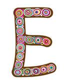 "Beautiful letter ""E"". — Vector de stock"