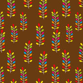 Seamless pattern on leaves theme — Stock Vector