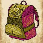 School backpack — Stock Vector