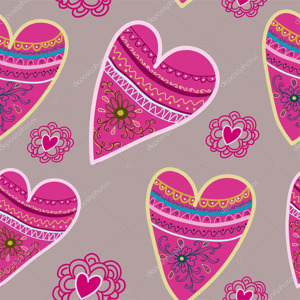 Hearts seamless pattern.Seamless pattern can be used for wallpaper, pattern fills, web page background,surface textures. — Stock Vector #12171803