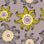 Naadloze textuur met bloemen — Stockvector