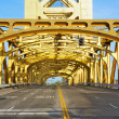 Sacramento Golden Tower Bridge — Stock Photo