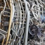 Jet engine internal — Stock Photo