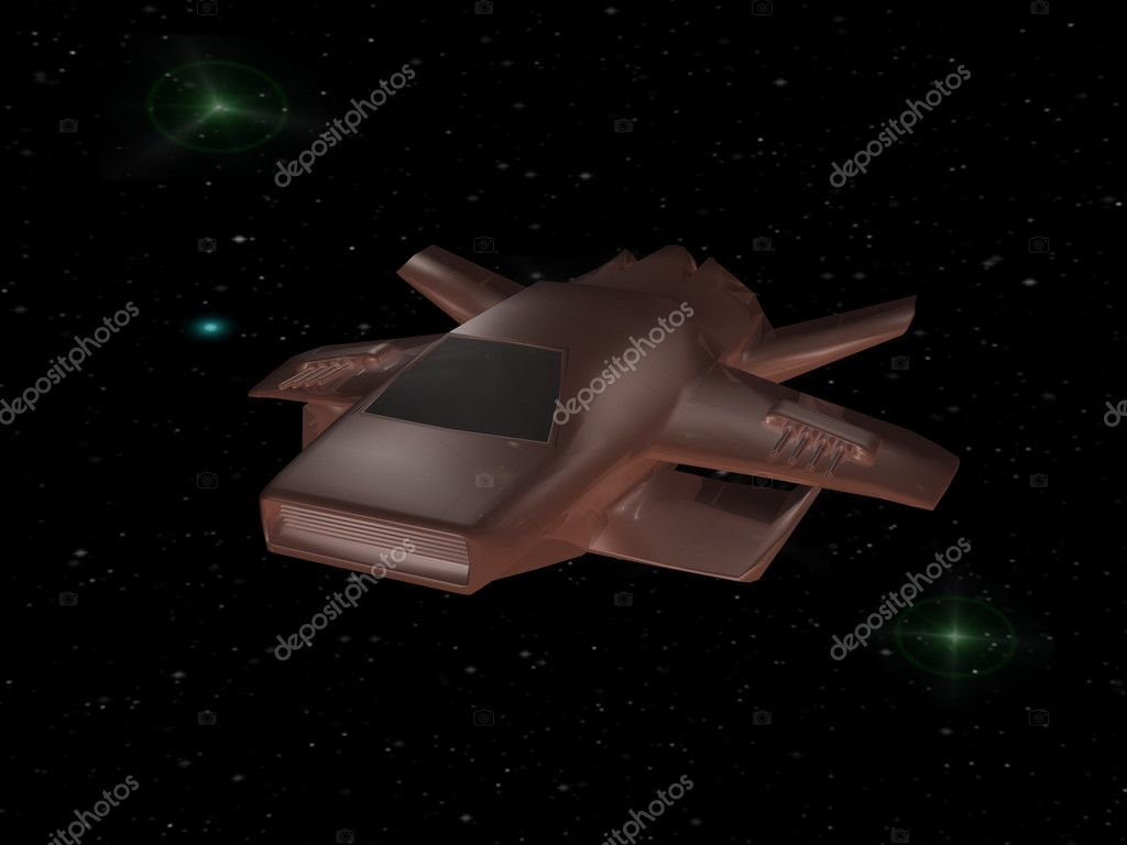 Battle spaceship in deep space — Stock Photo #11833825