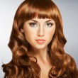 Brunette hair — Stockfoto