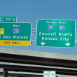 Stock Photo: Interstate signs