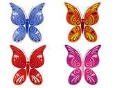 Beautiful butterflies — Stock Vector