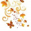 Stock Vector: Autumn design