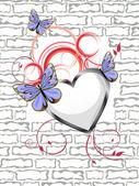 Floral heart — Vetor de Stock