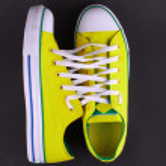 Yellow sneakers — Stock Photo