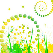 Abstract summer grass — Stock Vector