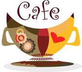 Cafe. Vector illustration. — Stockvektor