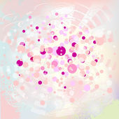 Soft pink background with bubbles — Stock Vector