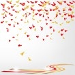 Confetti of hearts — Stock Vector