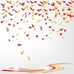 Confetti of hearts — Stock Vector