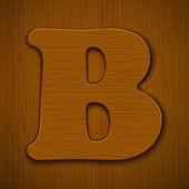 ξύλινα αλφάβητο. — Διανυσματικό Αρχείο