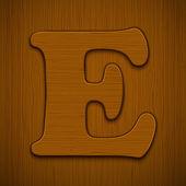 Alfabeto de madeira. — Vetorial Stock