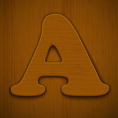 Wooden alphabet. — Stockvektor
