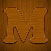 Alphabet en bois. — Vecteur