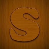 Alfabet drewniane. — Wektor stockowy