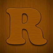 Dřevěná abeceda. — Stock vektor