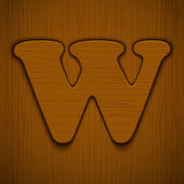 Wooden alphabet. — Stock Vector