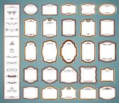 Etiketten kaders en kalligrafische-elementen. vector set — Stockvector